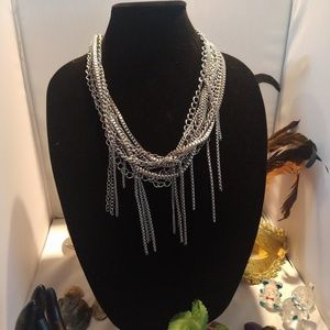 Chico's metal silver necklace